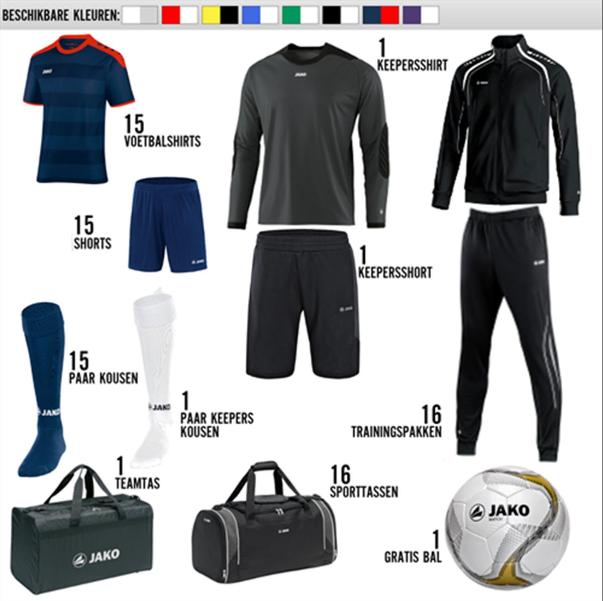 voetbalkleding online besteld